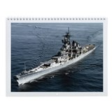 USS Missouri BB 63 Ships Image Wall Calendar