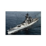 USS Missouri BB 63 Ships Image Rectangle Magnet