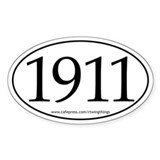 1911 Oval Decal