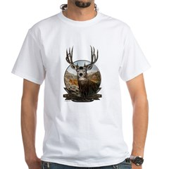 Mule deer Painting White T-Shirt
