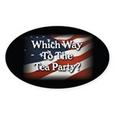 Which Way to The Tea Party? v3 Decal