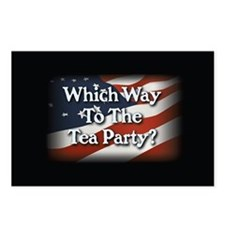 Which Way to The Tea Party? v3 Postcards (Package