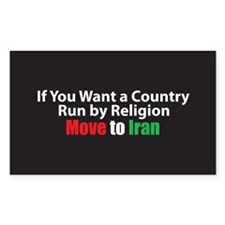 Move to Iran Rectangle Decal
