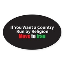 Move to Iran Oval Decal