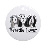 Beardie Lover Ornament (Round)