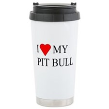 Unique Pittbull Travel Mug