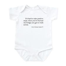 J. D. Burned Bridges Quote Infant Bodysuit