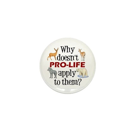 Anti-Hunting Animal Rights Mini Button (10 pack)