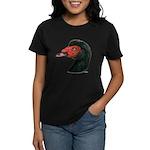 Muscovy Duck Head Black Women's Dark T-Shirt
