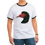 Muscovy Duck Head Black Ringer T