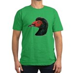 Muscovy Duck Head Black Men's Fitted T-Shirt (dark