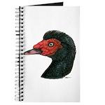 Muscovy Duck Head Black Journal