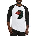 Muscovy Duck Head Black Baseball Jersey