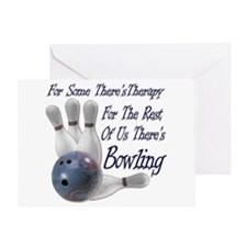 Bowling Therapy Greeting Card