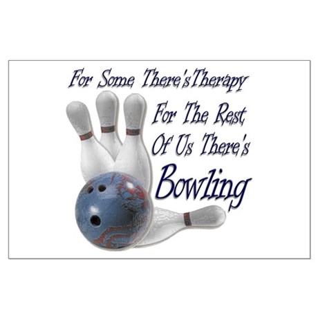 Bowling Therapy Large Poster