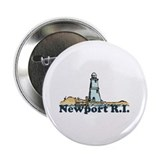 "Newport Beach RI - Lighthouse Design 2.25"" Button"