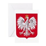 Poland Coat of Arms Greeting Cards (Pk of 10)
