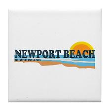 Newport Beach RI - Beach Design Tile Coaster