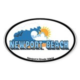 Newport Beach RI - Beach Designs Decal
