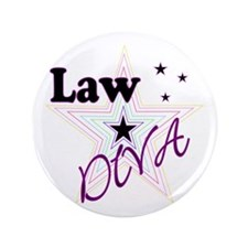 "Law Diva (Star) 3.5"" Button"