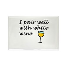 I Pair Well With White Wine Magnet 10 pack