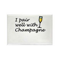 I Pair Well With Champagne Magnet 100 pack