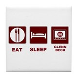 Eat Sleep Glenn Beck Tile Coaster