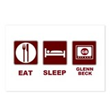 Eat Sleep Glenn Beck Postcards (Package of 8)