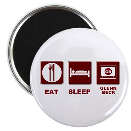 Eat Sleep Glenn Beck 2.25&amp;quot; Magnet (100 pack)