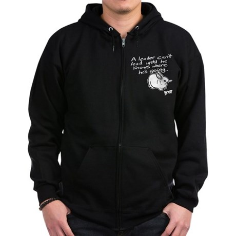 Leader LOST Black Zip Dark Hoodie