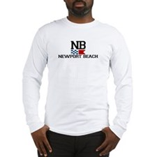 Newport Beach RI - Nautical Design Long Sleeve T-S