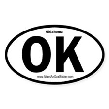 OK State ID Oval Decal