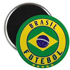 """Brasil Futebol/Brazil Soccer 2.25"""" Magnet (10 pack"""