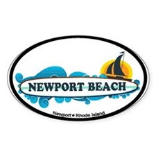 Newport Beach RI - Surf Design Decal