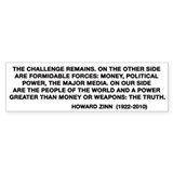 Howard Zinn Bumper Sticker