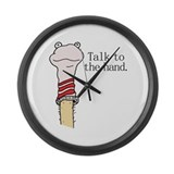 Talk to the Hand Large Wall Clock