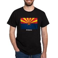 Arizona State Flag (Front) Black T-Shirt