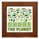 Share The Planet Framed Tile