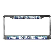 Wild About Dolphins License Plate Frame