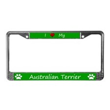 Green I Love My Australian Terrier Frame