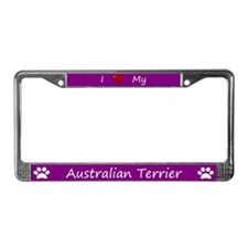 Purple I Love My Australian Terrier Frame