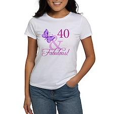 40 & Fabulous (Plumb) Tee