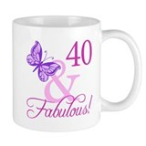 40 &amp; Fabulous (Plumb) Mug
