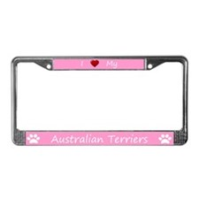 Pink I Love My Australian Terriers Frame