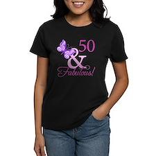 50 & Fabulous (Plumb) Tee