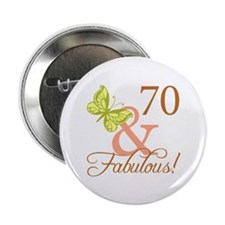 "70 & Fabulous (Autumn) 2.25"" Button"