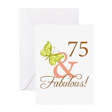75 & Fabulous (Autumn) Greeting Card
