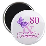 "80th birthday 2.25"" Round Magnet"