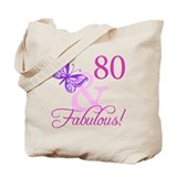 80 &amp; Fabulous (Plumb) Tote Bag