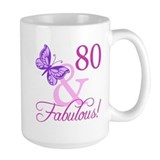 80th birthday Large Mug (15 oz)